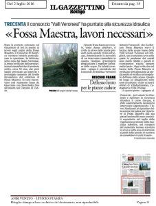 Il Gazzettino Di Rovigo, 2 Luglio 2016