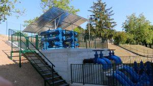 Il sistema di filtri del nuovo impianto irriguo della Valpolicella.